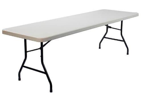 Blowmold Plastic Trestle Table – 6′ x 2'6″ - BE Furniture Sales