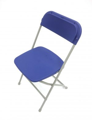 Blue Folding Chair - Event Venues, Halls, Schools - BE Furniture Sales
