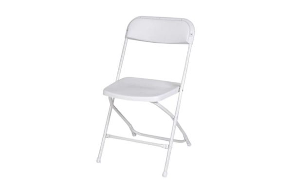 White Folding Samsonite Chair - Event Chairs - BE Furniture Sales