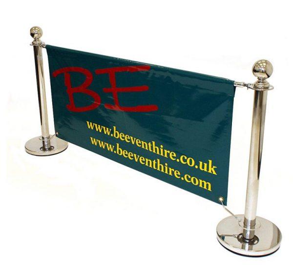 Cafe Barrier Sets - Silver Finish Cafe Barrier Set - BE Furniture Sales
