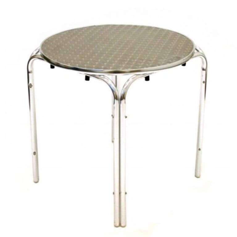 Round Aluminium Table (70cm) - BE Furniture Sales