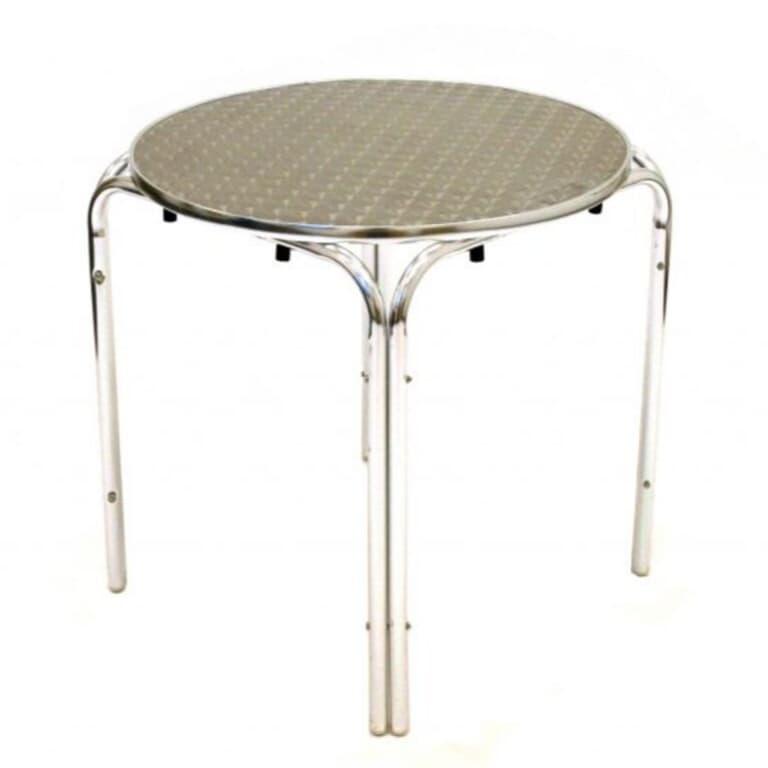 Round Aluminium Table (70cm) - BE Furniture Sales