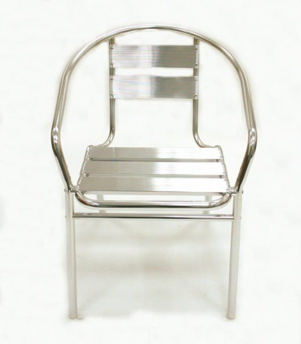 Standard Aluminium Bistro Chair - Top View - BE Furniture Sales