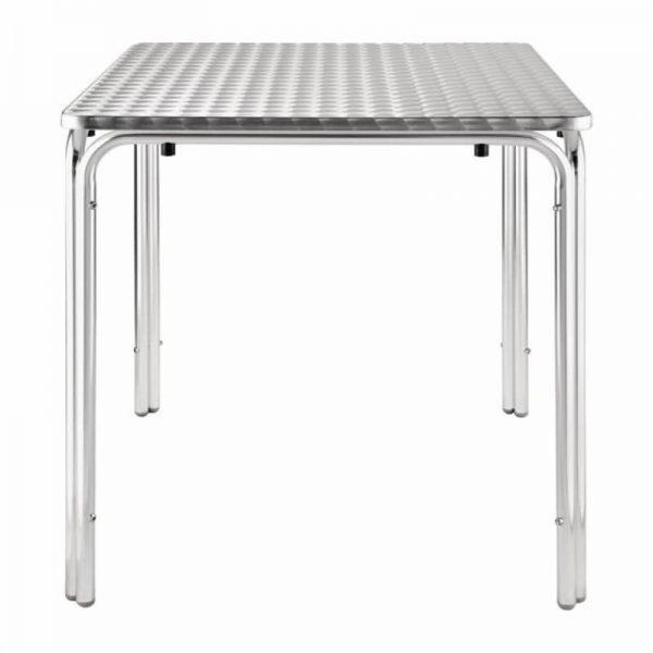 Weatherproof Square Aluminium Table 70 cms - BE Furniture Sales