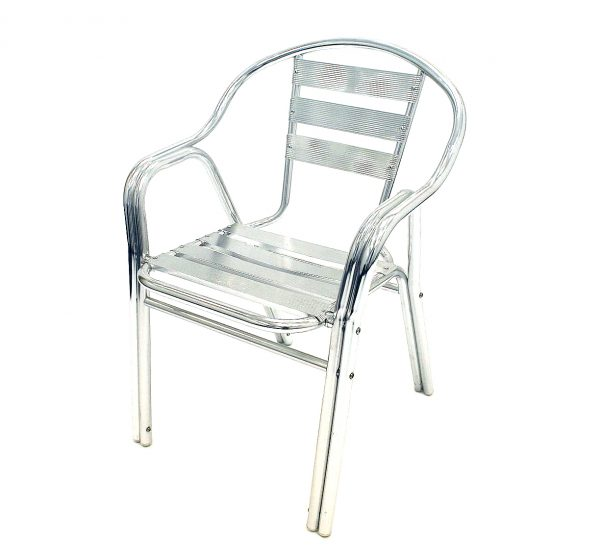 Aluminium Chair (Double Leg) - BE Furniture Sales