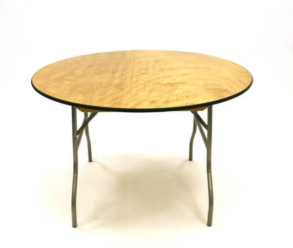 5 ft 6 Round Banqueting Table - Varnished - BE Furniture Sales