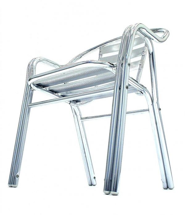 lightweight double tubed aluminium bistro chair - BE Furniture Sales