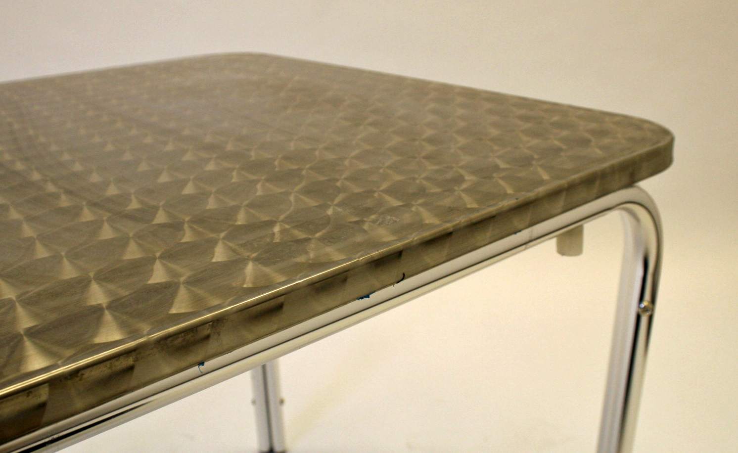 70 cm x 70 cm aluminium fully weatherproof  table with a rolled edge - BE Event Hire