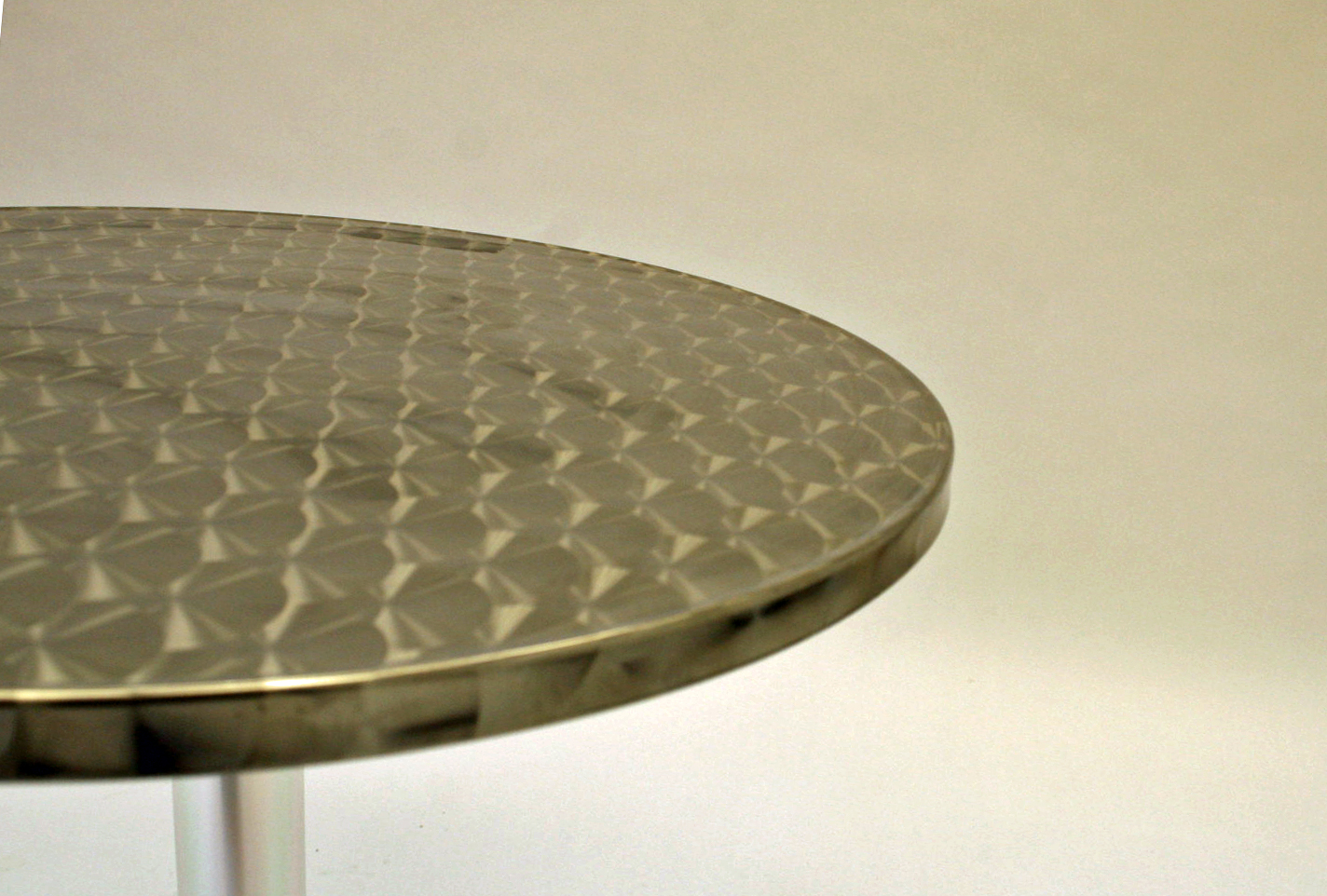 2' Diameter (60cm) Aluminium fully weatherproof table with a rolled edge - BE Event Hire