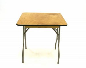 "Varnished Trestle Table - 2'6"" x 2'6"" - Table for Two - BE Furniture Sales"