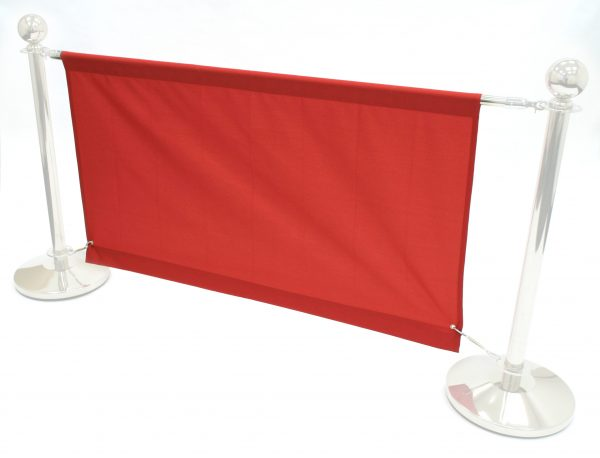 Red 1.4m Cafe Banners - Red Cafe Breeze Barriers - BE Furniture Sales