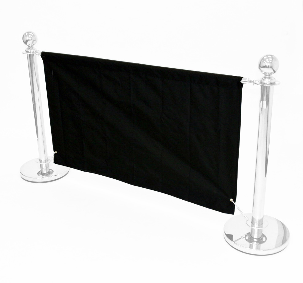 Black 1.4m Cafe Banner - Cafe Breeze Barriers - BE Furniture Sales