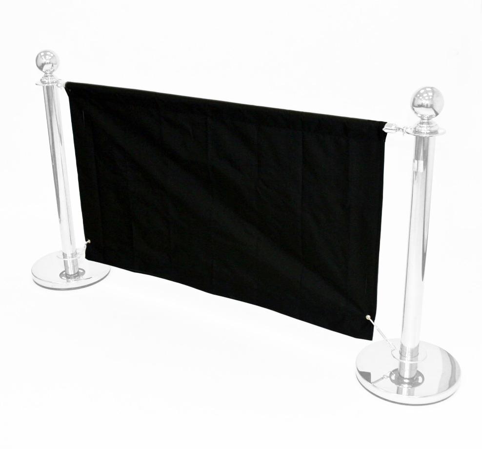 Black 1.4m Cafe Banner - Cafe Breeze Barriers - BE Furniture Sales