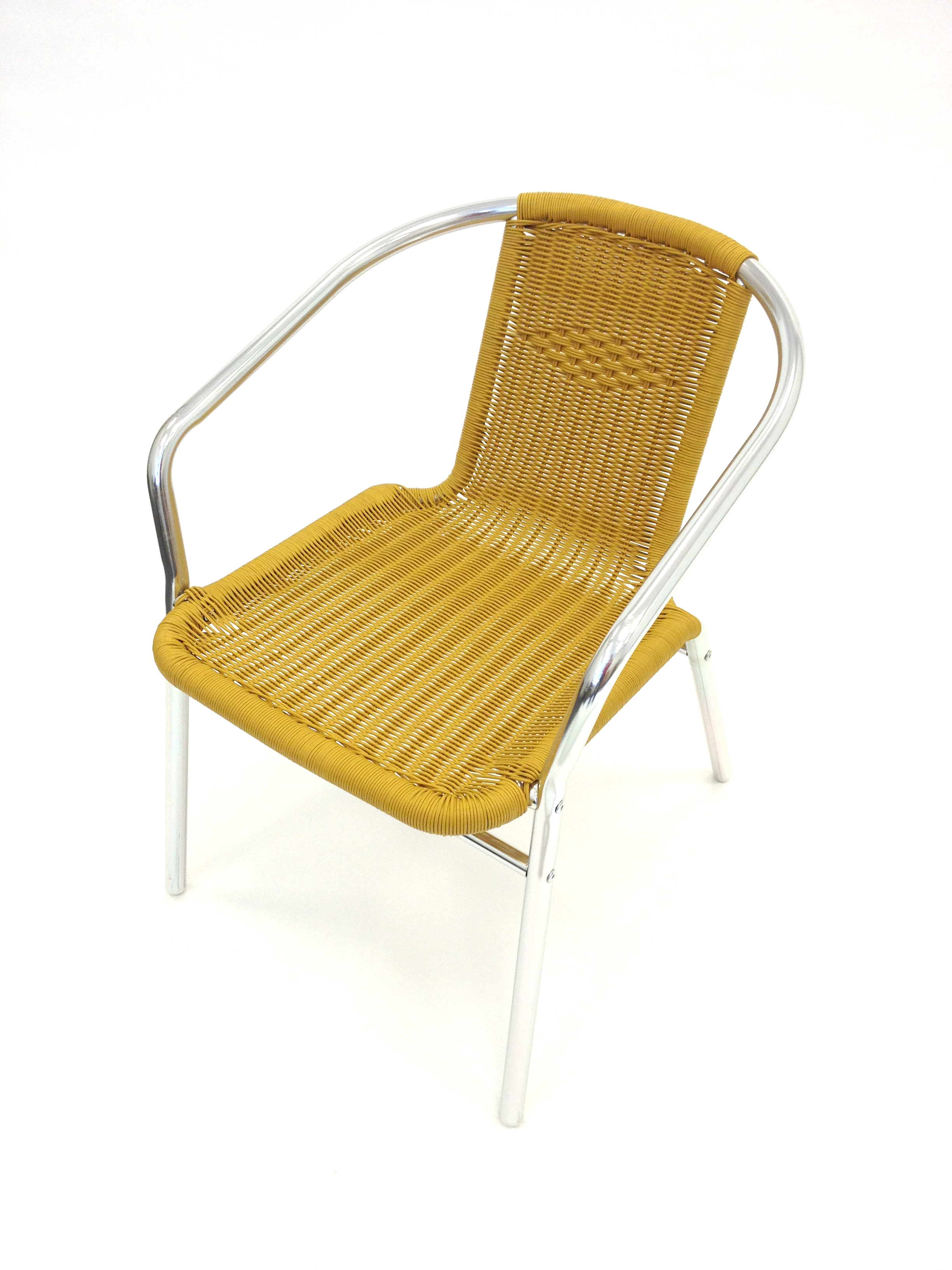 Sand Yellow Rattan Chair with Aluminium Frame - BE Furniture Sales