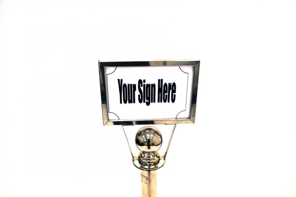 A4 Sign Holder (Landscape) - Barrier Post - BE Furniture Sales