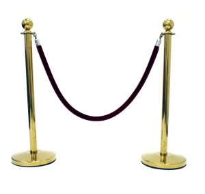 Barrier Posts - Gold cafe post - BE Event Hire