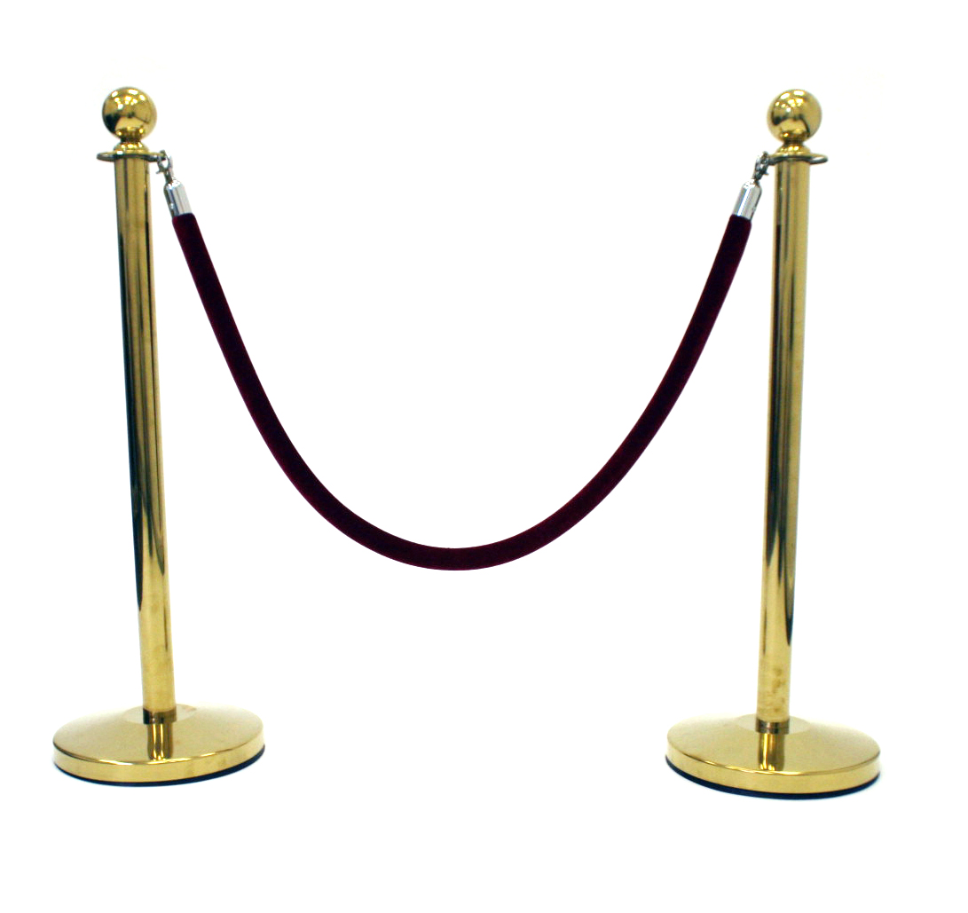 Mirrored Gold Barrier Post - Barrier Post - BE Furniture Sales