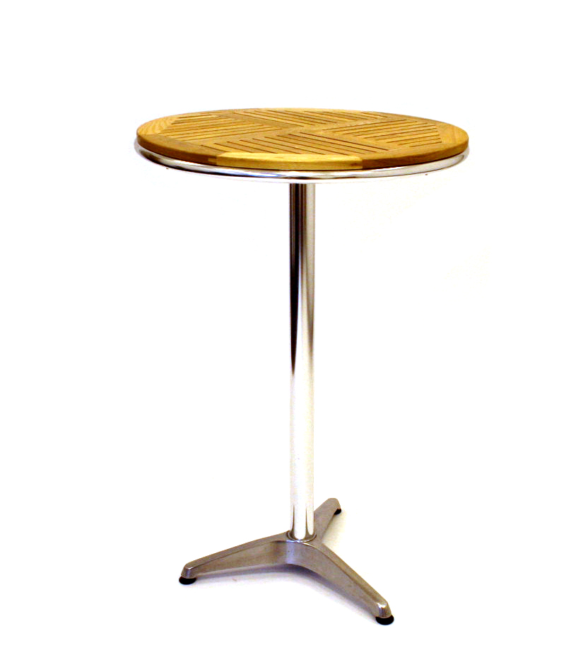 Ash Wood Aluminium High Table - BE Furniture Sales