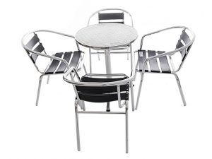 Black Aluminium Furniture Set - BE Event Hire