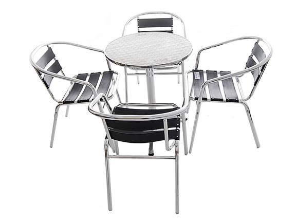 Black Aluminium Furniture Set - BE Event Hire