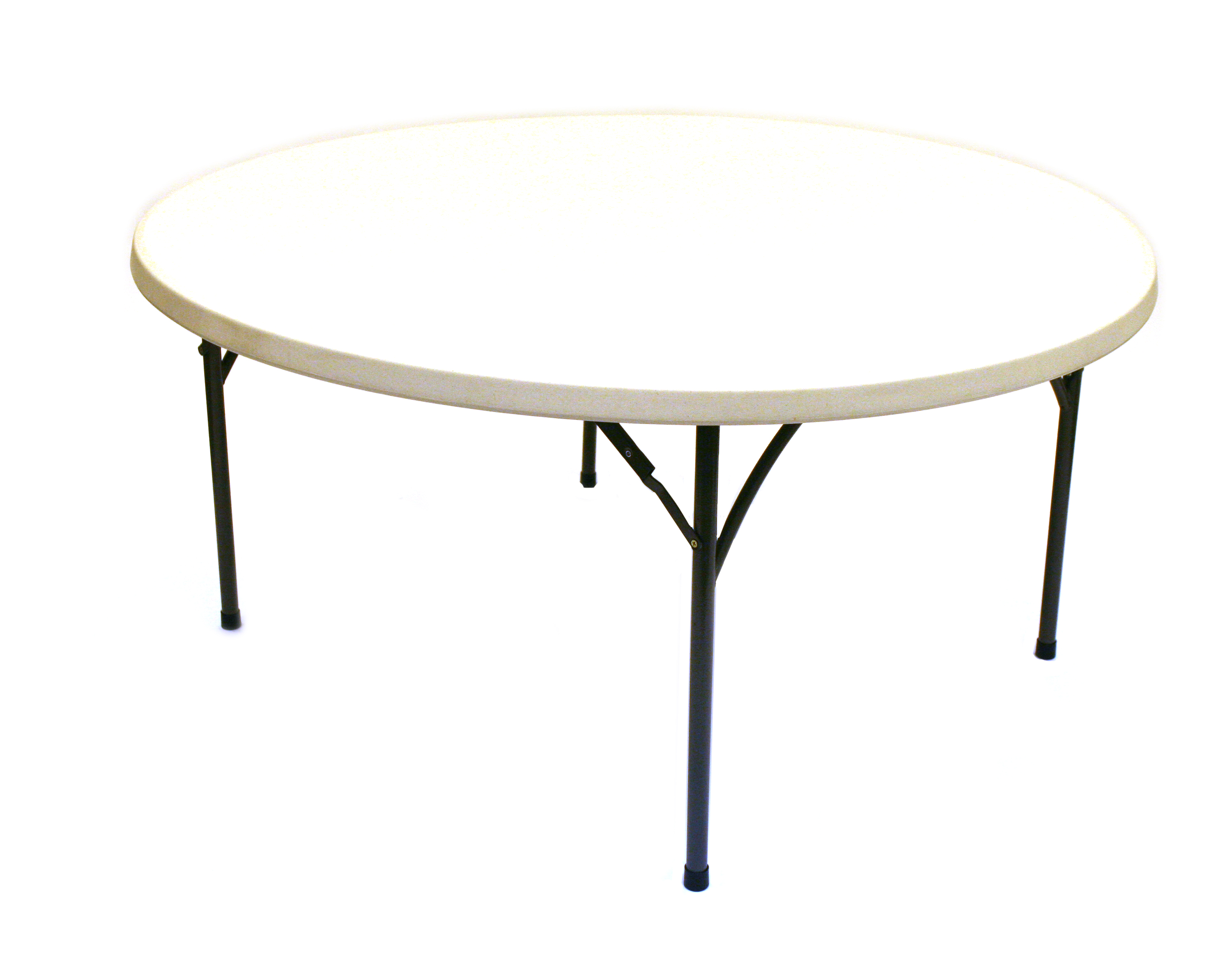 Blow Molded Round Table 1 5m Diameter Folding Steel Legs BE