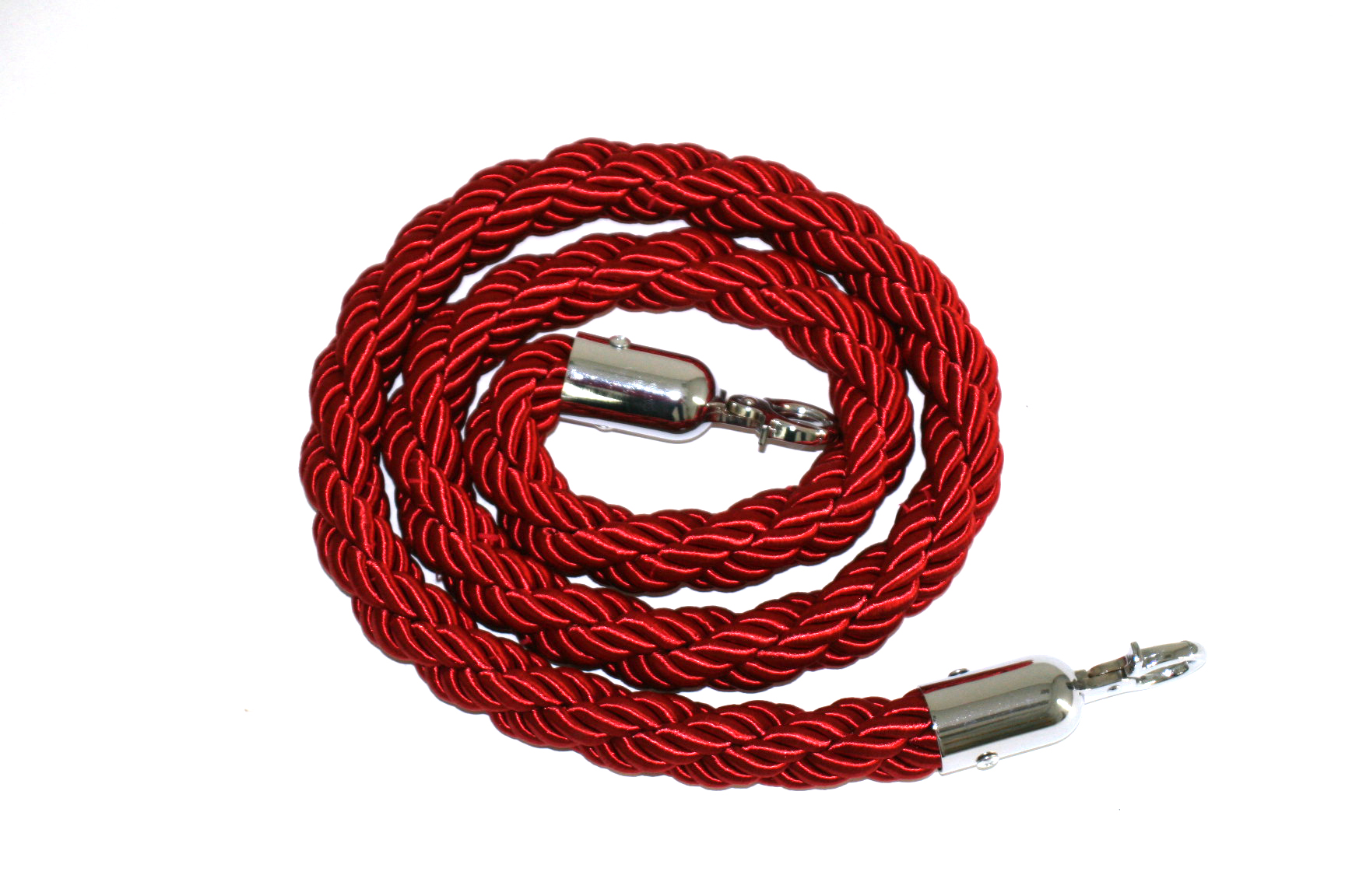 Red braided rope, 1.5m in length - BE Event Hire