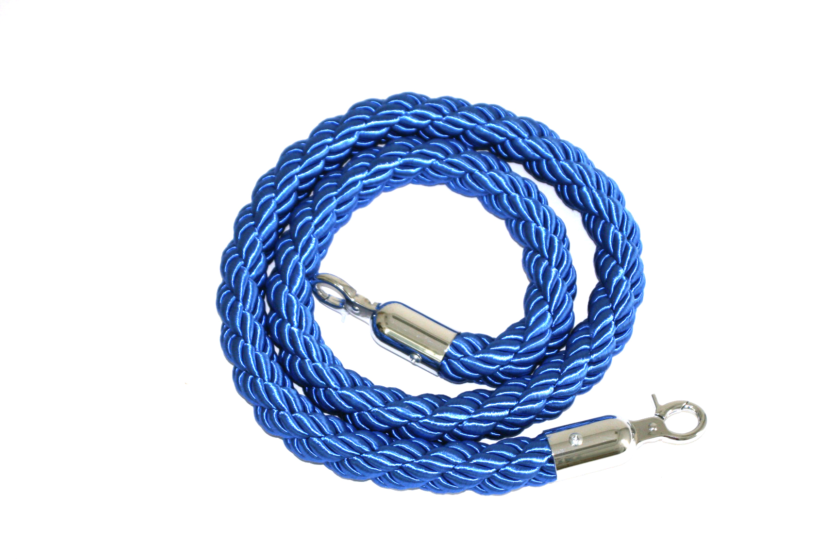 Blue braided rope, 1.5 meters in length - BE Event Hire
