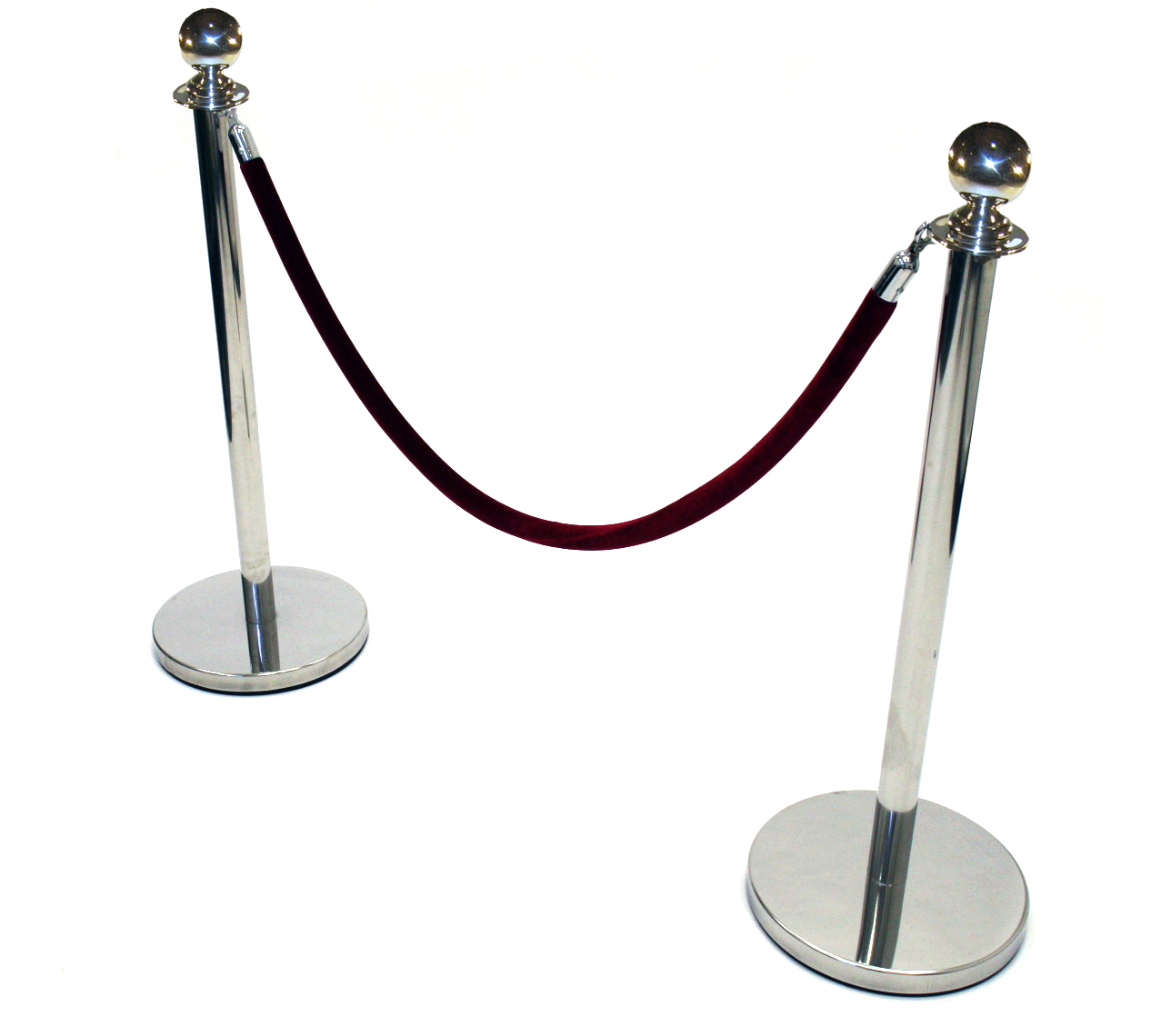 Barrier Posts - Ball Top Mirror Finish Barrier Post - BE Furniture Sales