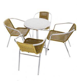 Buy Yellow Rattan Bistro Garden Furniture Set - BE Furniture Sales