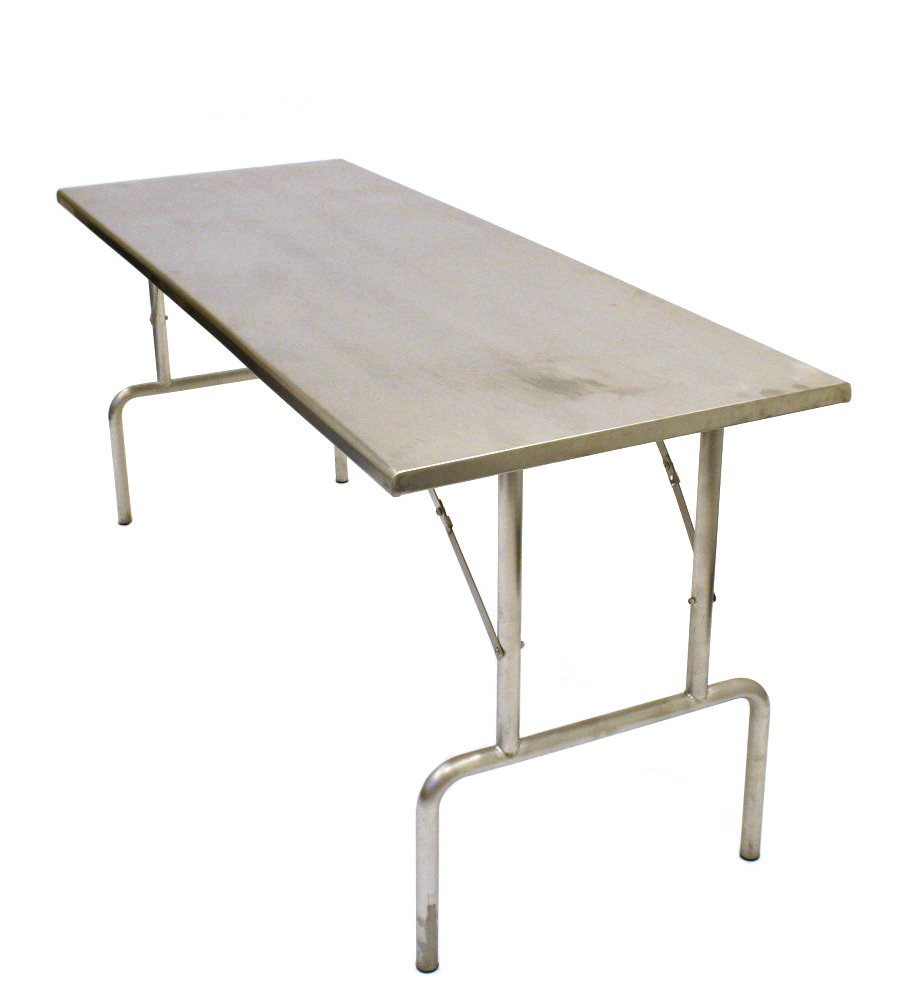 "Stainless Steel Catering Trestle Table - 6' x 2'3"" - BE Furniture Sales"