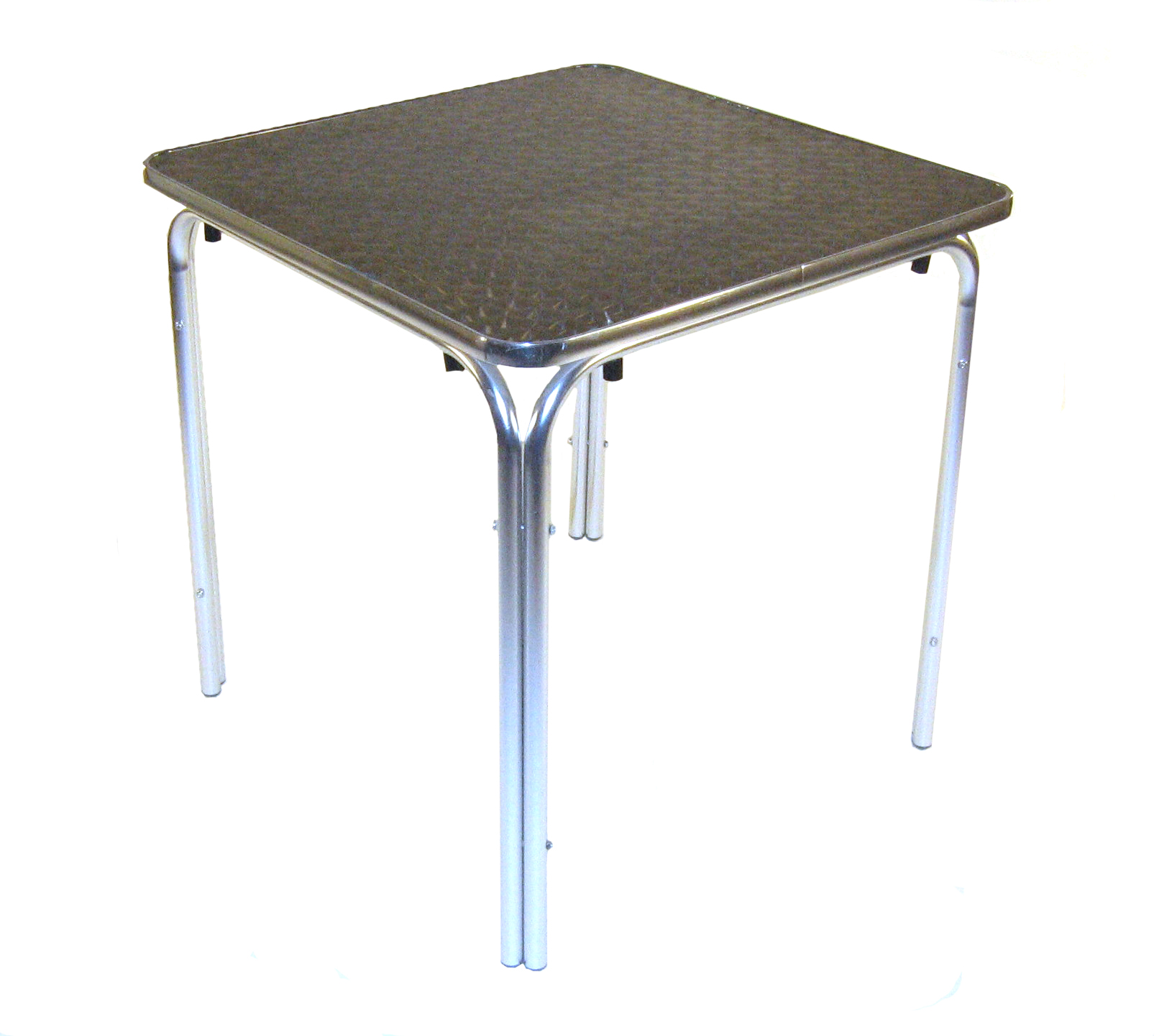 Aluminium Square Table - 70cm Rimmed Edge Stacking - BE Furniture Sales
