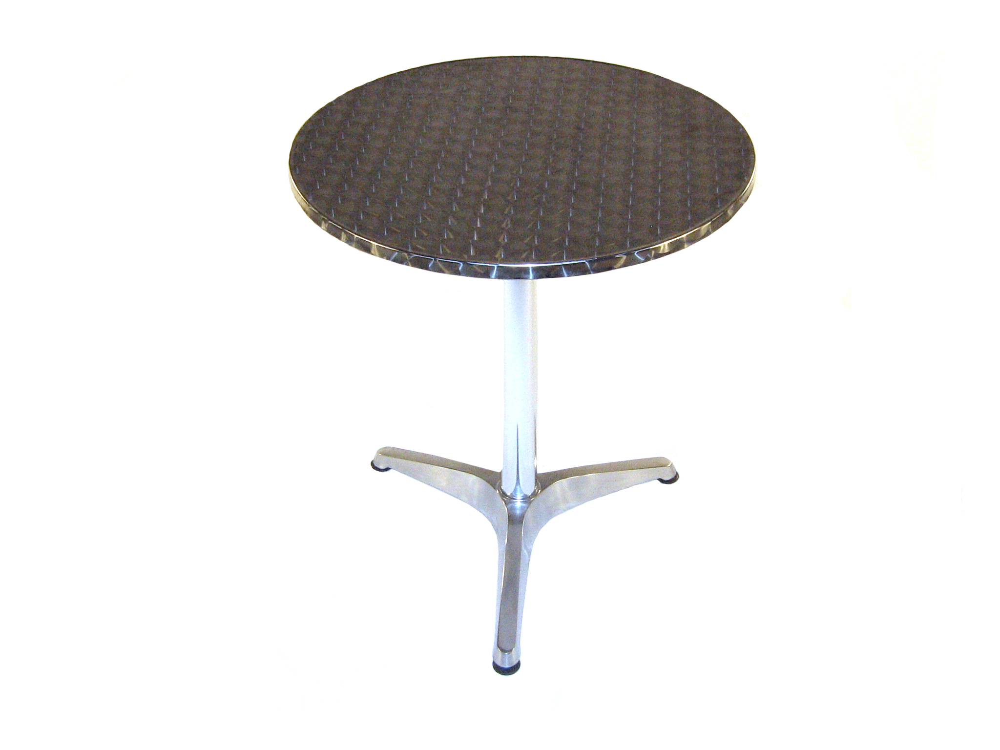 "2"" (60cm) Round Aluminium Table - Rolled Edge - BE Furniture Sales"