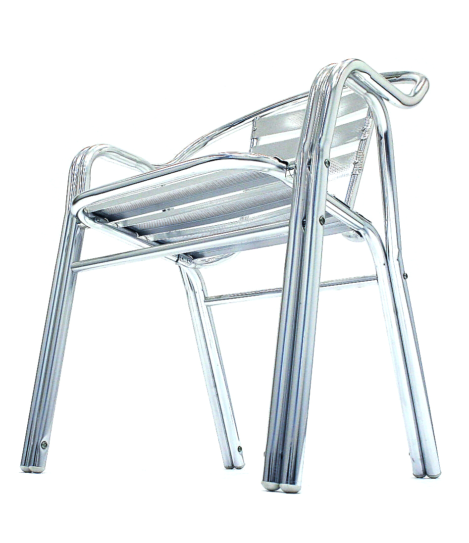 Lightweight double tubed aluminium garden or bistro chair. - BE Event Hire