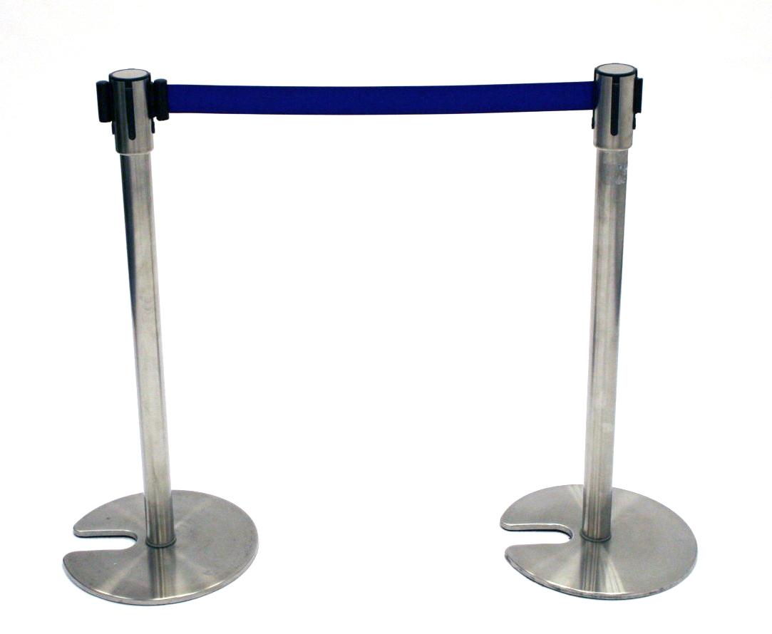 Stretch Belt Barrier Post (Blue Belt) - BE Event Hire