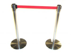 Stretch Belt Barrier Post (Red Belt) - BE Event Hire