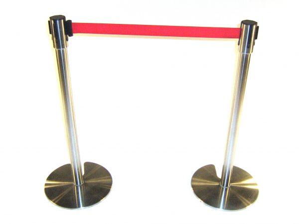Stretch Belt Barrier Post - Red Belt Stretch Barrier - BE Furniture Sales