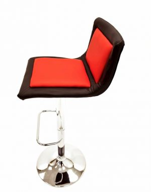 Black & Red Leather Bar Stools - Cafes, Events & Home - BE Furniture Sales