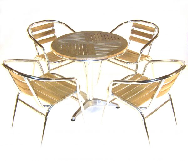 ash aluminium bistro garden furniture set - BE Furniture Sales