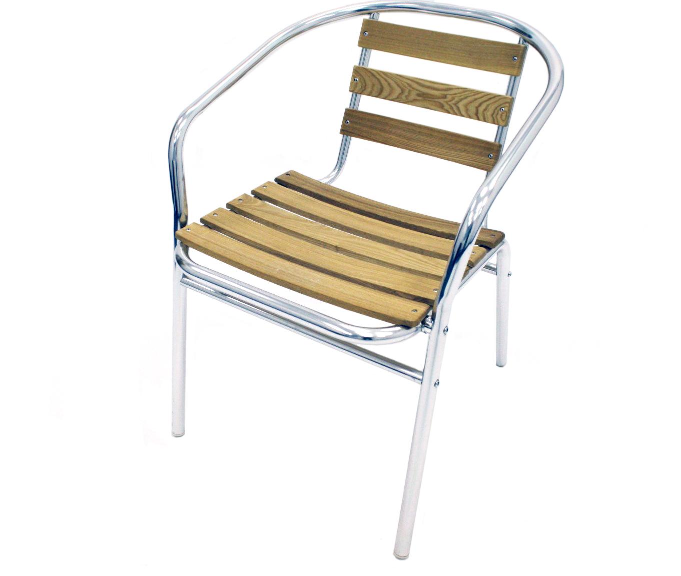 Ash Set comprising of 1 Aluminium 60cm diameter table and 4 Ash and aluminium chairs - BE Event Hire