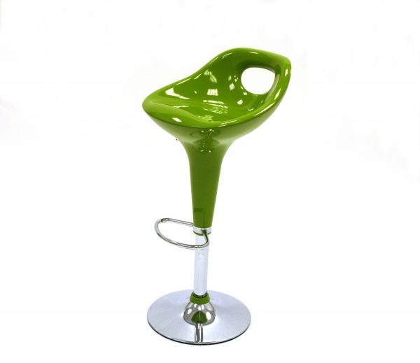 Green plastic gas lift swivel bar stool- BE Event Hire
