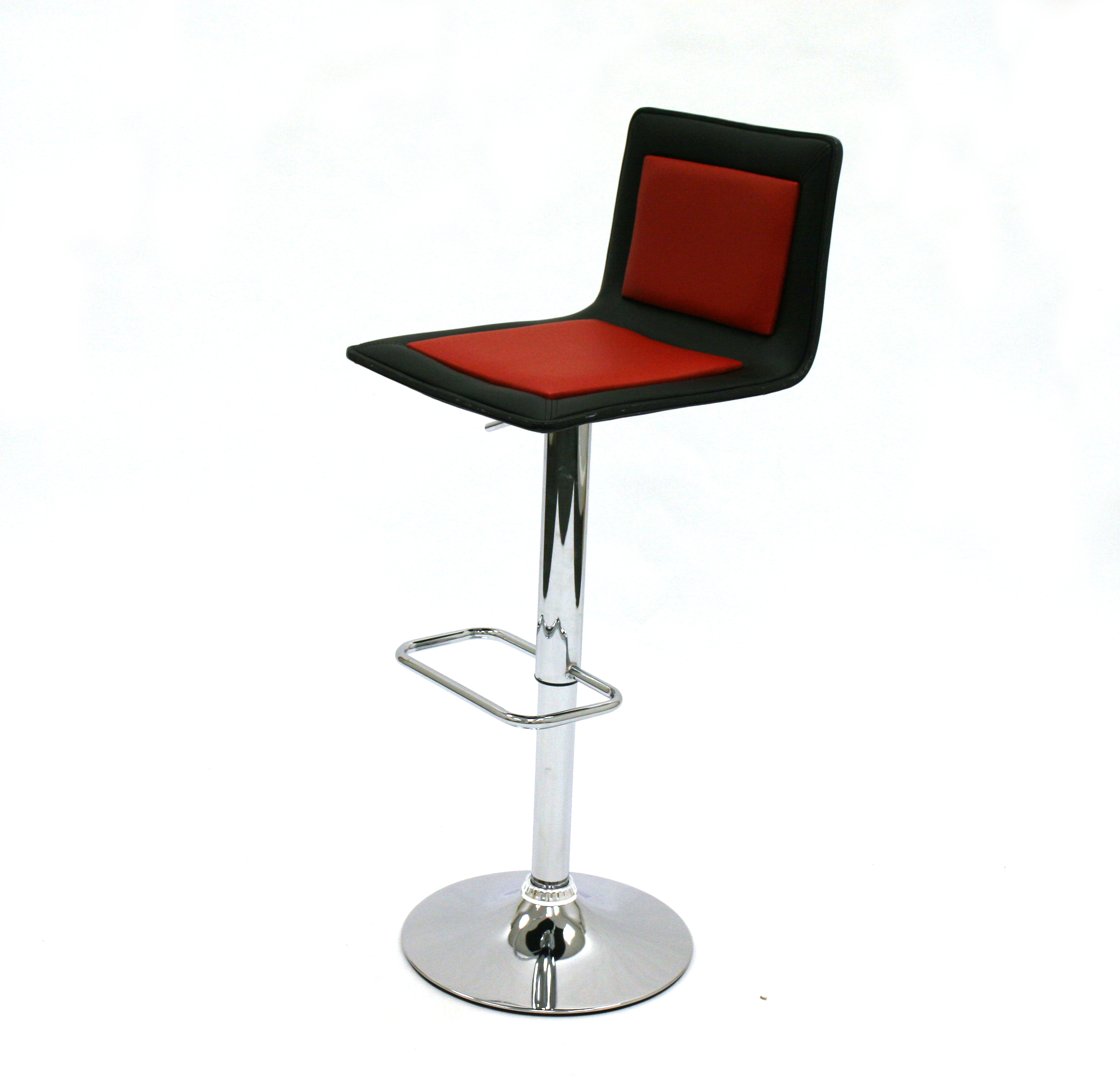 Black red leather bar stools cafes events home use be furniture sales