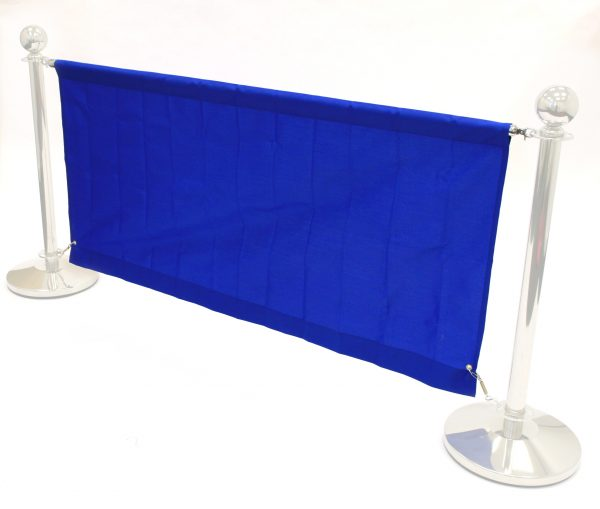 Blue 1.4m Cafe Banners - Cafe Breeze Barriers - BE Furniture Sales