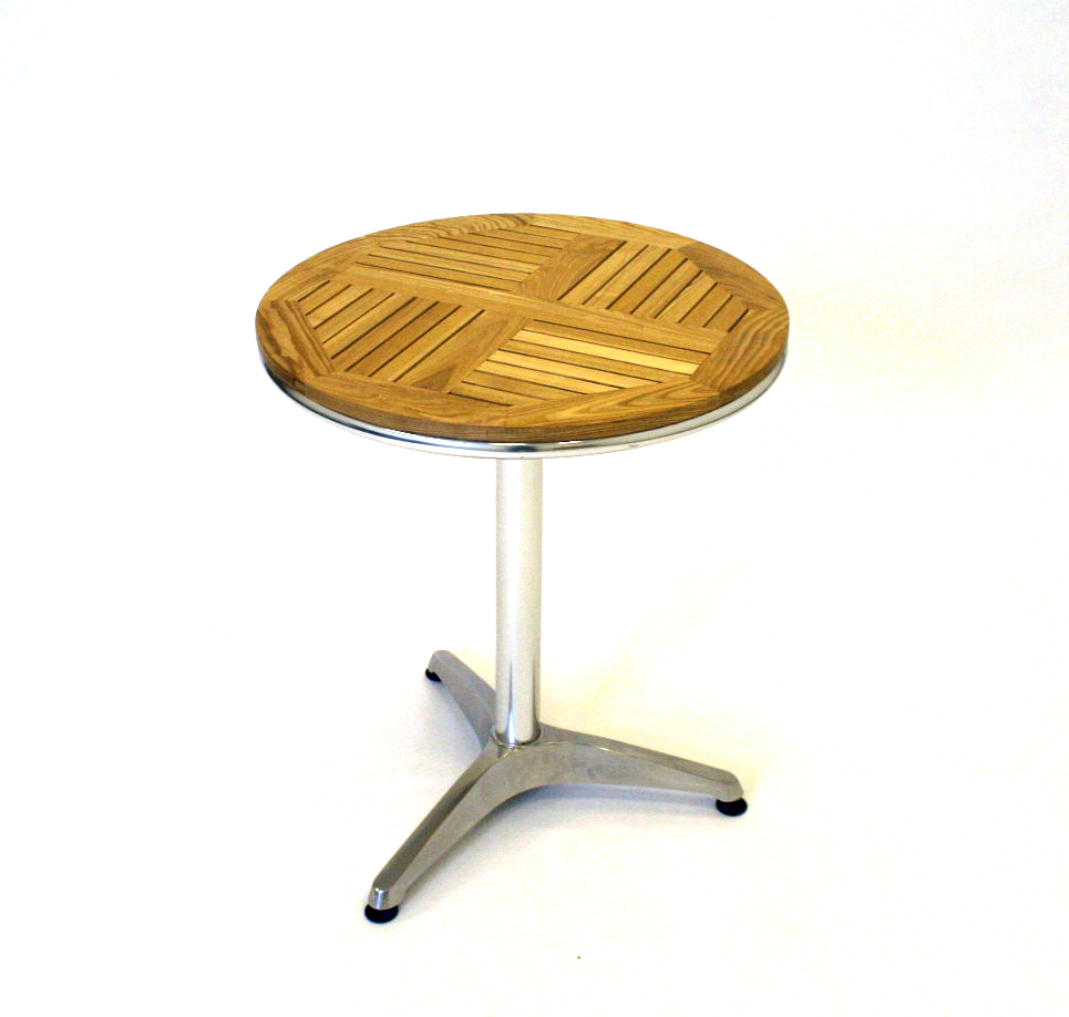 Ash Top Aluminium Bistro Table - Cafe's, Bistros or Home - BE Furniture Sales