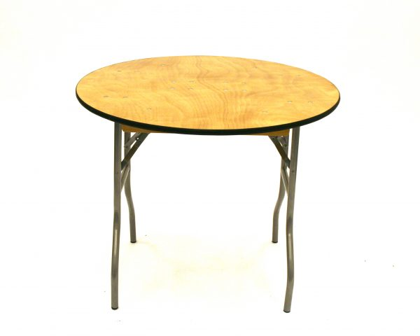 "Round Banqueting Table - 3"" Varnished Table - BE Furniture Sales"