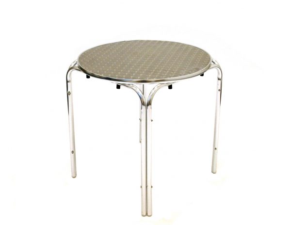 Round Aluminium bistro table 70cm - BE Furniture Sales