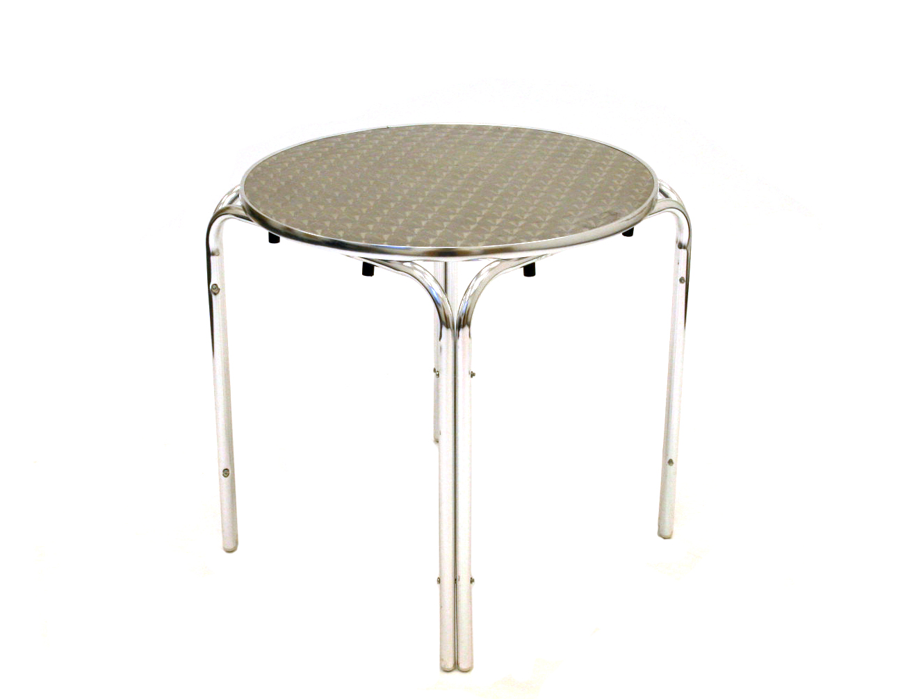 Aluminium Round Tables - Rimmed Edge, 70cm dia - BE Furniture Sales