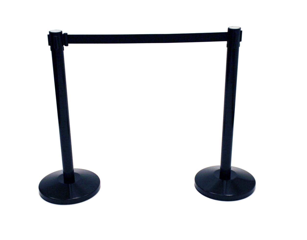 Black Stretch Barrier Post & Belt - Tensa Stretch Barrier - BE Furniture Sales