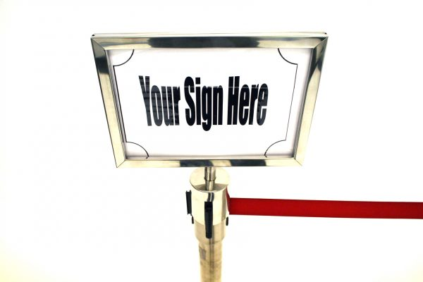 Stretch Barrier A4 Sign Holder (Landscape) - BE Furniture Sales