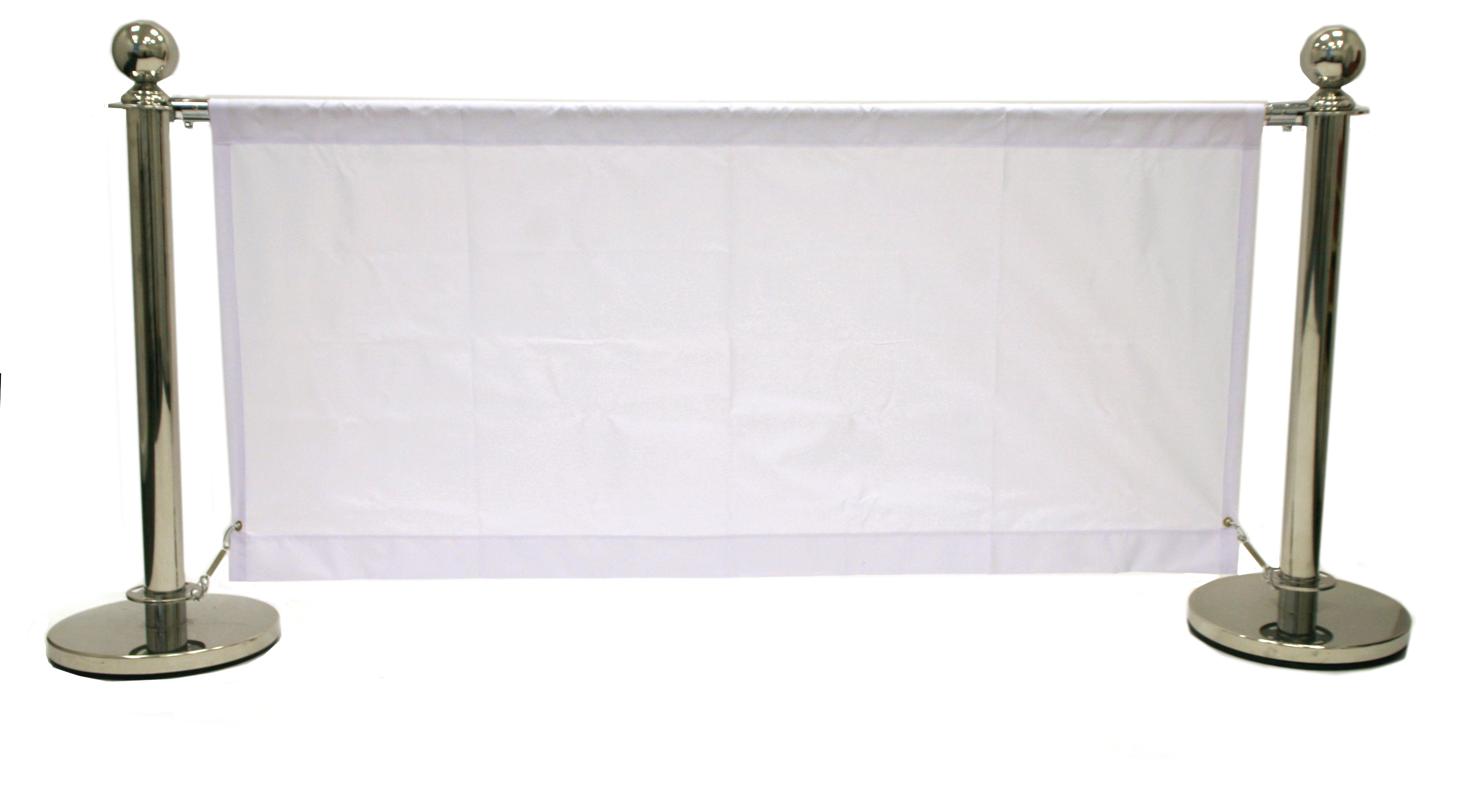 White 1.6m Cafe Barrier - Cafe Breeze Banners - BE Furniture Sales