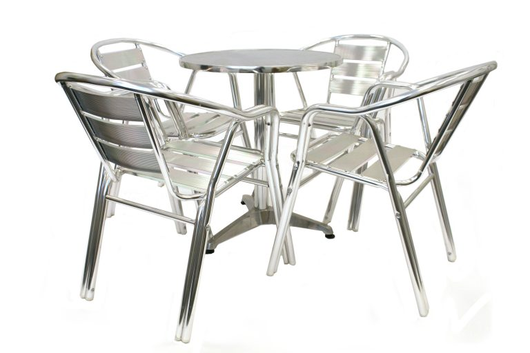 Aluminium Cafe Bistro Set - BE Furniture Sales